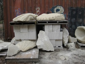 scuptures at the Gasworks-Park studio