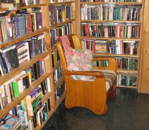 Comfort at Syber's Book Shop