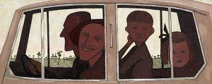 the-car John Brack Painting