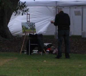 painting the-botanical-gardens-St Kilda