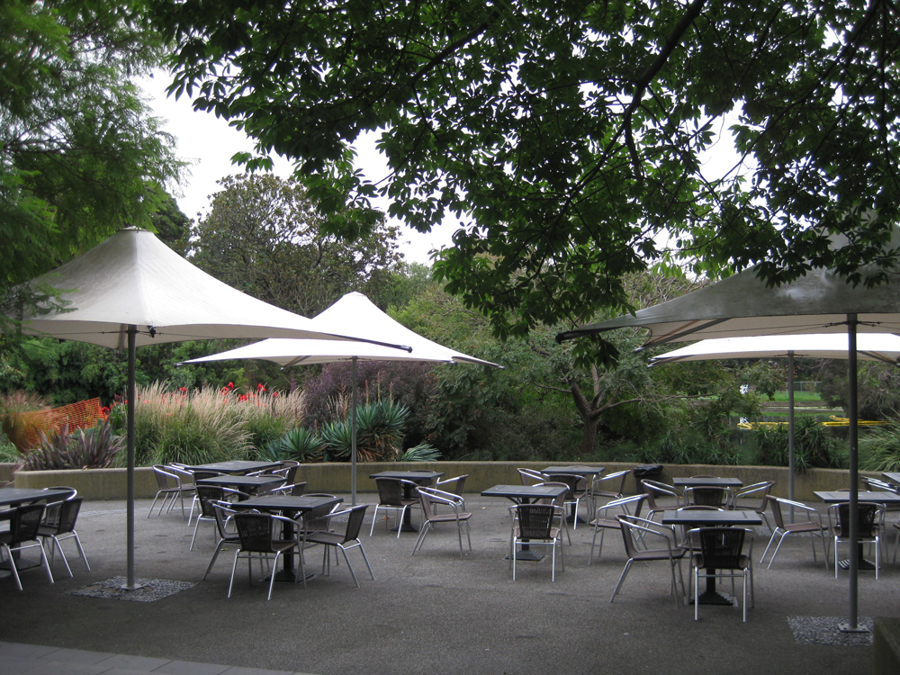 Melbourne botanical gardens and the terrace cafe on a wet for The terrace restaurant