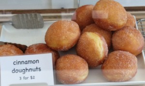 Cinnamon doughnuts at the Baker's Larder