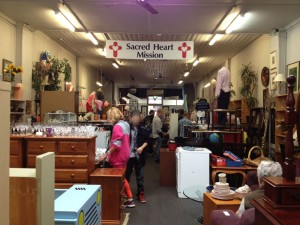 Busy lunch time Sacred Heart Op Shop