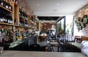 The bar at Dandelion Elwood