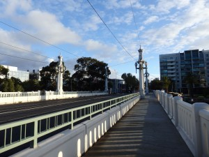 Chapel Street Bridge on a sunny day