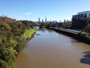 Looking down The Yarra to the city