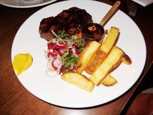 Cape Grimm Porterhouse steak with English Mustard