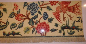 Jacobean work in wool