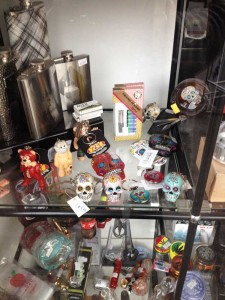 A small part of the window display