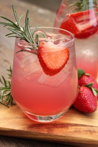 Strawberry and Rosemary Iced Tea
