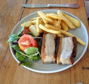 Pork Belly with chips