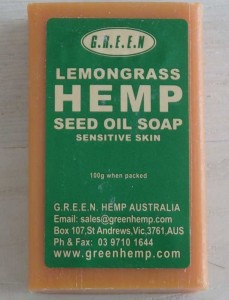 Hemp oil soap for sensitive skins