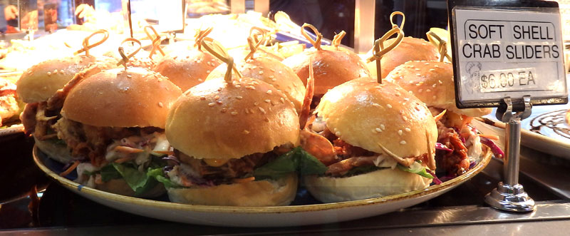Soft-shell crab sliders