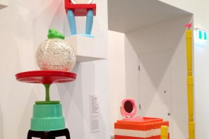 Louise Paramor's enormous paper sculptures and sculptures from found plastic are at the Ian Potter Gallery in Federation Square.